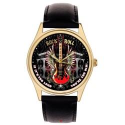 Rock And Roll Kickass Electric Guitar Art Collectible 40mm Retro Art Wrist Watch