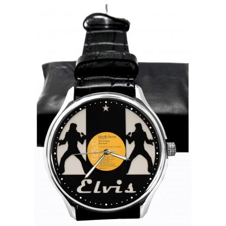 Classic Elvis Presley Greatest Hits Vinyl LP Art Pop Art Collectible 40 mm Brass Wrist Watch