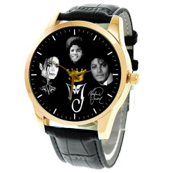 "Michael Jackson Classic 42 mm Collectible ""King of Pop"" Comemmorative Wrist Watch"