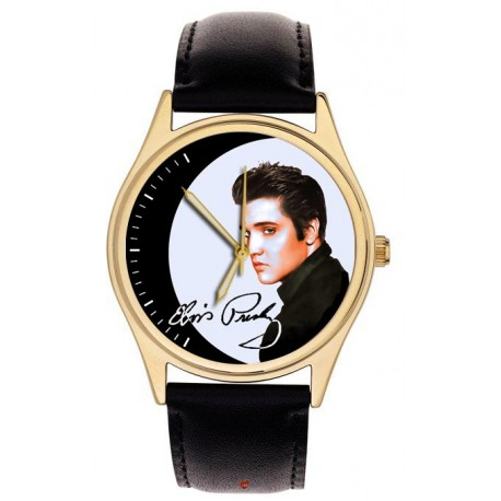 The Young Elvis Presley Vintage Pop Art Collectible 40 mm Brass Wrist Watch