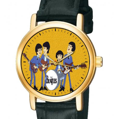 Rare Fab Four Comic Art The Beatles Collectible 30 mm Wrist Watch