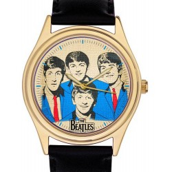 The Beatles Wrist Watch, Rare 1960s Blue & Sepia Pop Art in Solid Brass