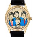 The Beatles Wrist Watch, Rare 1960s Blue & Sepia Pop Art in Solid Brass