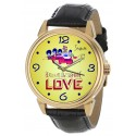 The Classic Beatles Yellow submarine Art LOVE Wrist Watch in Solid Brass