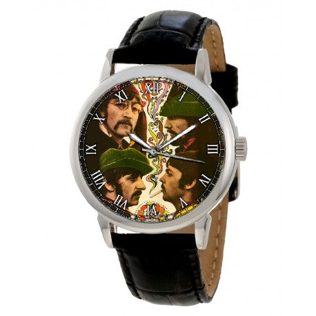 The Beatles White Album Era Collectible Hippie Yogi Art Beatlemania Wrist Watch