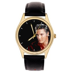 Elvis Presley Flame Red Original Art Collectible Commemorative Wrist Watch