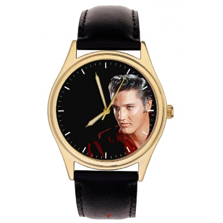 Elvis Presley Flame Red Original Art Collectible Comemmorative Wrist Watch