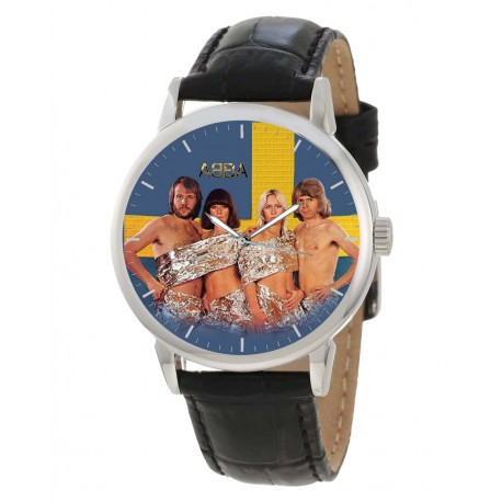 "ABBA ""Tinfoil Art"" Collectible Large 40 mm Classic Wrist Watch"