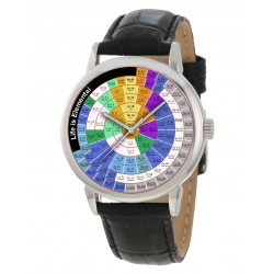 The Periodical Table, Angular / Circular, Classic Chemistry Art Collectible Wrist Watch 40 mm