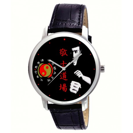 Kung Fu Kungfu Eye-Catching Chinese Yin Yang Bruce Lee Art 40 mm Wrist Watch