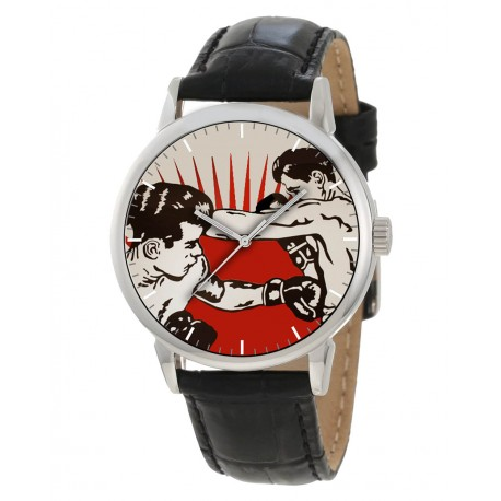 Fantastic Pop Art Boxer Boxing Art Collectible 40 mm Graphic Art Wrist Watch