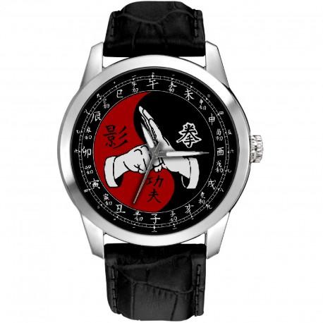 Bruce Lee Kung Fu Kungfu Eye-Catching Chinese Yin Yang Art 40 mm Collectible Wrist Watch