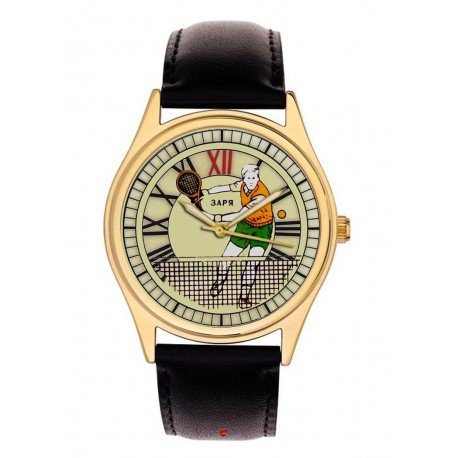 Vintage Lawn Tennis Art Collectible Tennis Enthusiast's 40 mm Wrist Watch