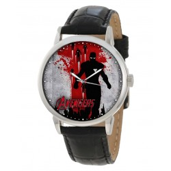 The Avengers. Crimson Blood Red Postmodern Vintage Superhero Comic Art Collectible Wrist Watch