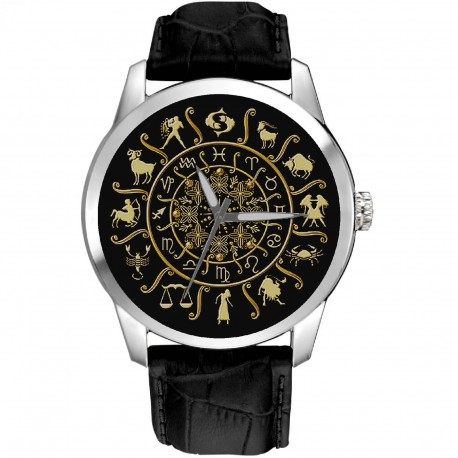 Classic Astrology Art, Zodiac Circle, Sun Signs, Unisex Wrist Watch
