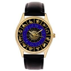 Astrology Art, Zodiac Circle, Sun Signs, Gorgeous Midnight Blue & Gold Unisex Wrist Watch