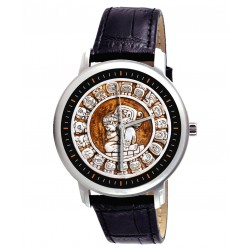 Classic Ancient Mayan Astrology Art, Zodiac Circle, Sun Signs, Unisex Wrist Watch