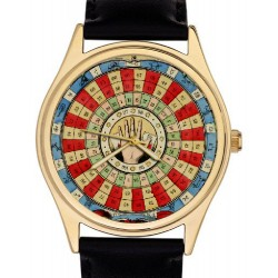 Beautiful Retro Art Fortune Teller Wheel Astrology Divining Art Collectible Wrist Watch