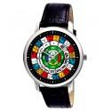Classic Ancient Mayan Astrology Art, Zodiac Circle, Sun Signs, Unisex Wrist Watch