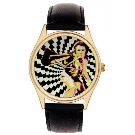 Clint Eastwood Dirty Harry Vintage Hollywood Cult Art Collectible 40 mm Brass Wrist Watch