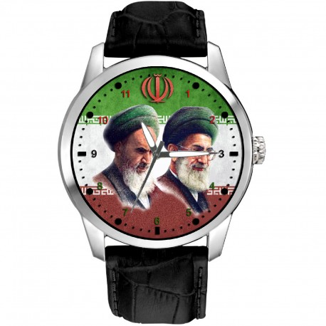 Ayatollah Khomeini Iranian Islamic Revolution Poster Art Collectible Shia Islam Wrist Watch