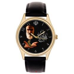 Rare Ayatollah Khomeini Offering Prayers Shia Islam Art Solid Brass Wrist Watch