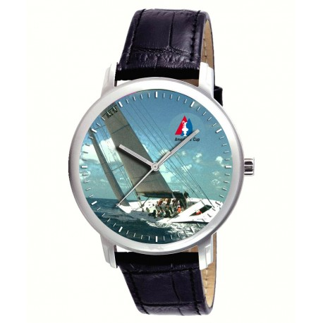 The America's Cup Saling Art Collectible Presentation Wrist Watch. 40 mm.