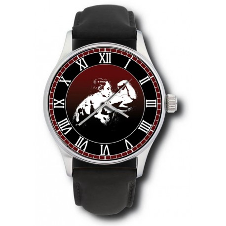 Classic Body Building Art Designer Statement Large Format Wrist Watch