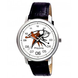Table Tennis Ping Pong Beautiful Collage Art TT Enthusiast's 40 mm Wrist Watch