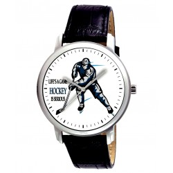 Ice Hockey Fan Art Gents Wrist Watch. Life is a Game, Hockey is Serious! 38 mm
