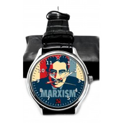 Groucho Marx vs Karl Marx Hollywood Postmodern Pop Art Collectible Marx Brothers Wrist Watch