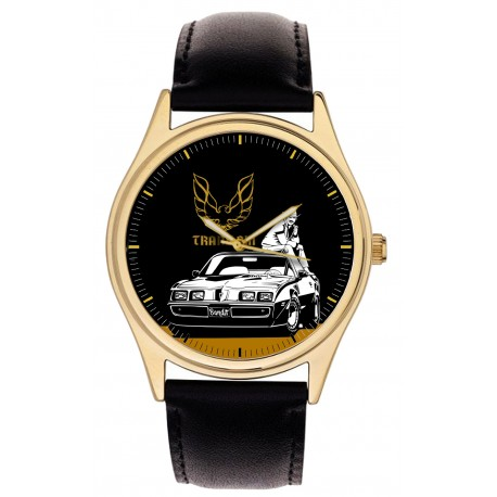 Smokey and the Bandit Trans Am Pontiac Hollywood Racing Art Wrist Watch