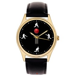 Beautiful Cricket Art 40 mm Cricketing Collector's Wrist Watch