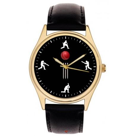 Beautiful Cricket Art 40 mm Cricketing Collector's Wrist Watch