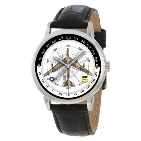 USAF B-52 Stratofortress Rare Bombsight Dial Aviation Art Wrist Watch