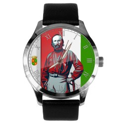 Garibaldi, Rare Italian Nationalism Colors, Solid Brass Collectible Wrist Watch