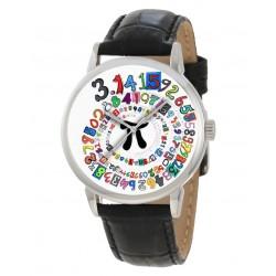 π Value Of Pi Spiral Art Math Trigonometry Radian Circle Wrist Watch