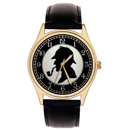 Classic Sherlock Holmes Silhouette Art Collectible Arthur Conan Doyle Wrist Watch