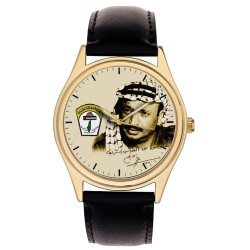 Yasser Arafat Vintage Palestine-Liberation Plo Signed Art Collectible Wrist Watch