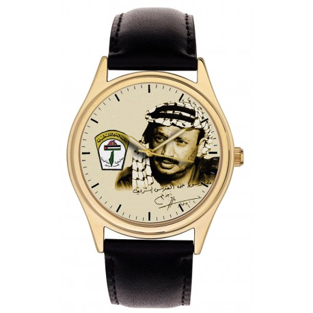Yasser Arafat Vintage Palestine-Liberation Plo Signed Art Collectible Wrist Watch
