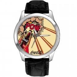 Coke Roy Lichtenstein Pop Art Coca Cola Benday Dots Art Solid Brass Wrist Watch