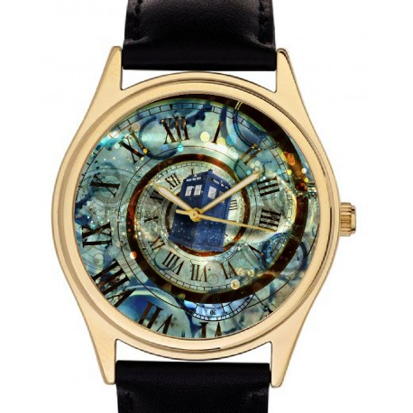 Doctor Who! Tardis Time Warp Cult Surrealist Art Collectible 40 mm Wrist Watch