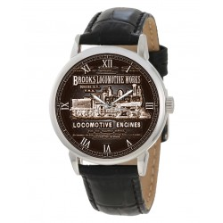 Brooks Locomotives Vintage Steam Engine Railways Locomotive Art Collectible Wrist Watch