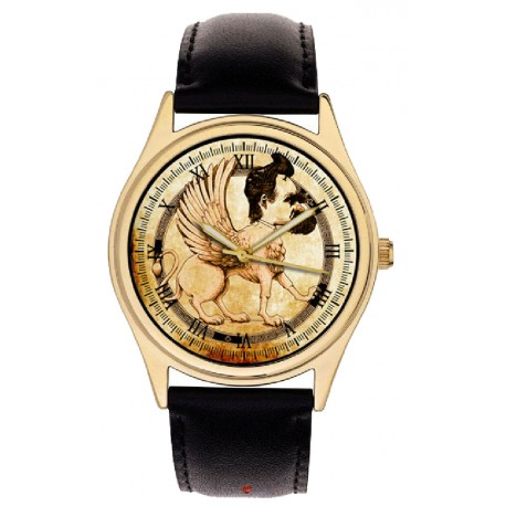 Friedrich Nietzsche Symbolic Gryphon Collectible Philosophy Art Wrist Watch