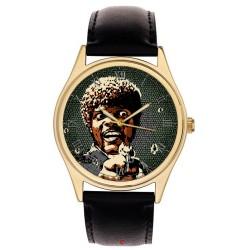 Pulp Fiction Samuel Jackson Pop Art Vintage Hollywood Cult Art Collectible 40 mm Brass Wrist Watch