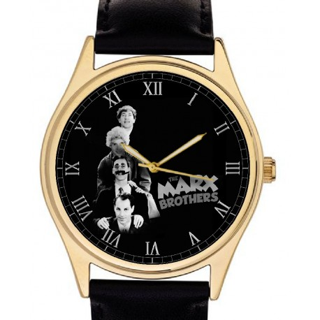 Marx Brothers Hollywood Memoribilia Collectible Wrist Watch Groucho Harpo Chico