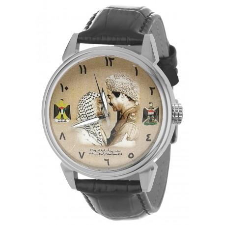 Saddam Hussein & Yasser Arafat Vintage Palestine-Iraqi Baath Party Arab Unity Art Collectible Wrist Watch