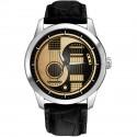 Stunning Yin Yang Guitar Art Every Guitarist's Collectible Wrist Watch. 40 mm. Brass.
