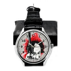 The Three Stooges, Larry With A Gun Postmodern Art Collectible Brass Wrist Watch