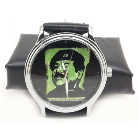 Saddam Hussein as Che Guevera Vintage Baath Party Propaganda Art Wrist Watch
